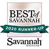 Best of Savannah Runner Up 2020 award