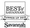 Best of Savannah Runner Up 2018 award