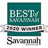 Best of Savannah 2020 award
