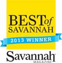 Best of Savannah 2013 award