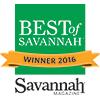 Best of Savannah 2016 award