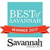 Best of Savannah 2017 award