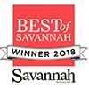 Best of Savannah 2018 award